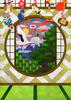 和室鶴と亀(年賀状向け)背景