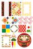 和風背景・飾り枠・ハート・折り紙・日本国旗・鏡餅・必勝だるま(JPEG)