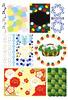 色・音符・薔薇・雪の結晶・紙吹雪・苺の飾り枠・クローバー・シロツメクサ・和風梅・葉っぱ(JPEG)