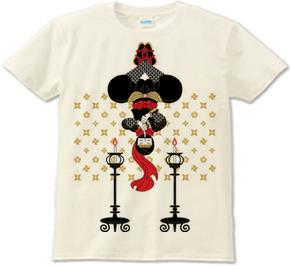 忍者と燭台(Ninja and candlesticks)Tシャツ