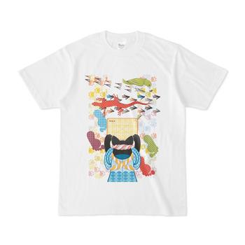 雑巾がけと足跡(リメイク)Cleaning and footprints (Remake)Tシャツ