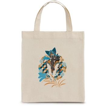 「ポニーテールと猫耳4色」お手軽トート handy tote bag 867円(税込)