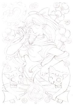 美少女女神セーラーヴィーナス-Gold-1下絵