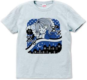 睡眠少女イラストTシャツ