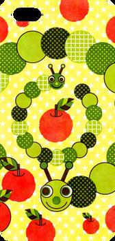 芋虫と林檎(Apple and caterpillar)iPhone 5/5S ハードケース
