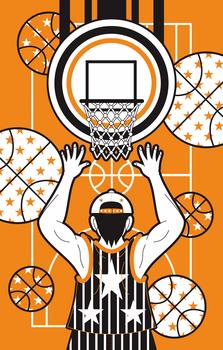 iPhone5用のカバーデザイン募集バスケットボール完成