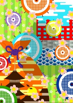 0080京都の舞妓猫j背景