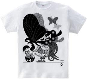 鶏蝶の親子(Parent-child Butterfly chicken)