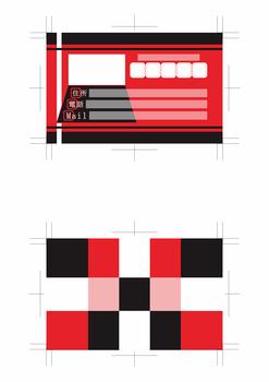 名刺デザイン青赤緑黄色黒系両面500dpi(テーマは「Web designer」)2