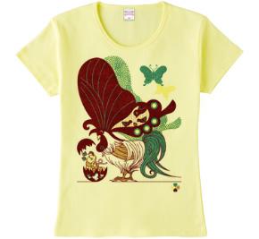 鶏蝶Tシャツ