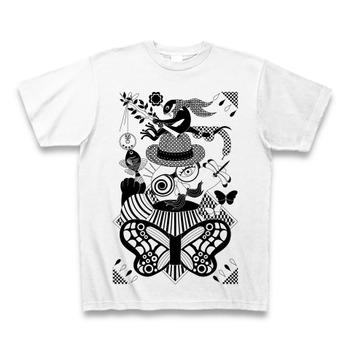 釣りと鼻眼鏡(Fishing and nose glasses) Tシャツ(ホワイト)