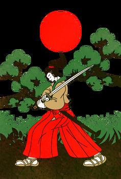 和風のイラスト制作(人物のみ)侍 (2)