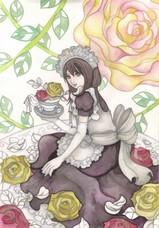 「メイドさんと薔薇」メイキング5