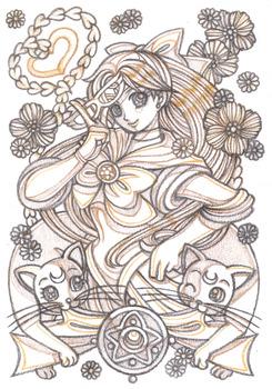美少女女神セーラーヴィーナス-Gold-3アニメ原画風