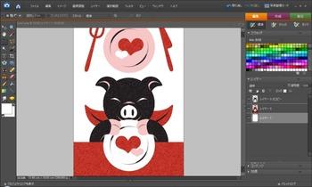 ダスト&スクラッチ+スクリーン(50%)Adobe Photoshop Elements 6.0