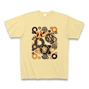 動物とドーナッツ(Animal and doughnut) Tシャツ (ナチュラル)