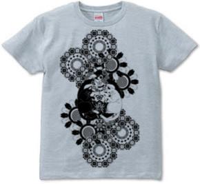 「ねことりむしブラック」T-shirt (半袖Tシャツ)