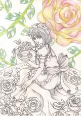 「メイドさんと薔薇」メイキング3