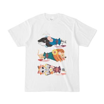 動物メガホン…魚・猫・女子(リメイク)Animal megaphone ... fish, cat, girl (remake)Tシャツ