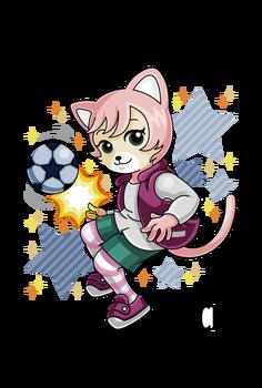 サッカー女子にゃっきい(しまじろうのわお!)アニメ塗り