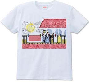布団干し(Hang out futon)Tシャツ