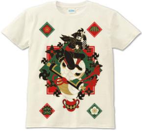 忍者と蛇と手裏剣・和風Tシャツ
