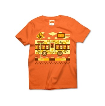 CAT ROAD AND CAT BUS Tシャツ黄色1