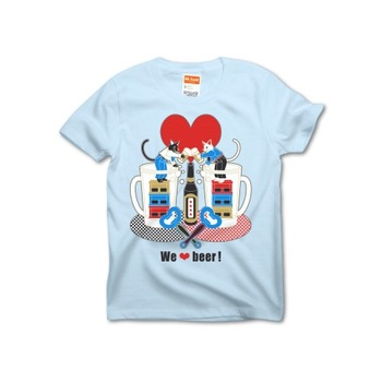 Tシャツデザイン「We love beer!」5色