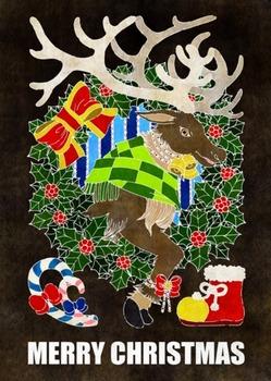 クリスマスイラスト(トナカイ)2