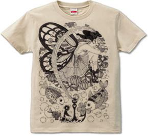 「魚釣り少女」T-shirt (半袖Tシャツ) \1,680- (Taxin \1,764- )