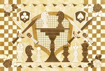 午年年賀状用イラスト素材「チェス」通常