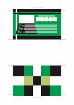 名刺デザイン青赤緑黄色黒系両面500dpi(テーマは「Web designer」)3