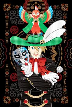 3怪人☆仮面マスク哀牙と怪鳥☆仮面マスクサユリ