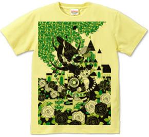 長靴をはいた猫とダイヤル式電話機とオニオオハシ(Cat who wearing boots and Dial phone with Toco toucan)Tシャツ