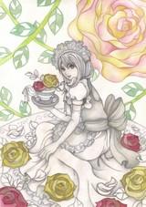 「メイドさんと薔薇」メイキング4