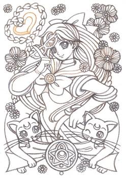 美少女女神セーラーヴィーナス-Gold-2線画