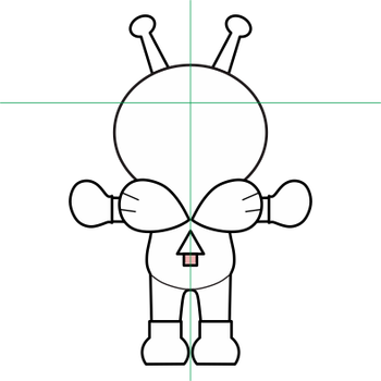 ばいきんまん三面図2