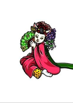 0080京都の舞妓猫h明るい部分