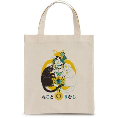 「ねことりむし」お手軽トート handy tote bag