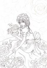 「メイドさんと薔薇」メイキング1