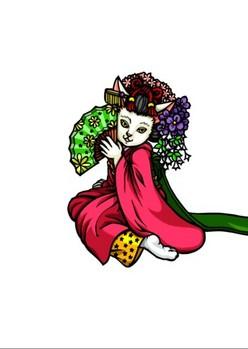 0080京都の舞妓猫g影2段階
