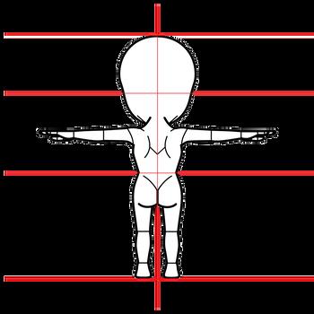 グレイ型宇宙人三面図完成2