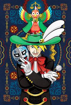 2怪人☆仮面マスク哀牙と怪鳥☆仮面マスクサユリ