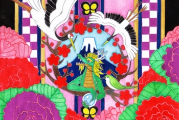 鶴と鶯と龍2