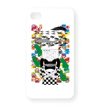 雑巾がけと足跡(Wiping and a footprint) iPhone4Sオリジナルケース(ホワイト)