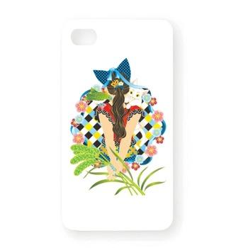 「ポニーテールと猫耳カラフル」 iPhone4Sオリジナルケース (ホワイト) 2,625円