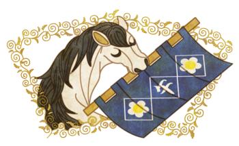 午年年賀状用イラスト素材「馬と暖簾」午年, 年賀状, イラスト, 素材, ウマ, うま, 馬, 和, 午, のれん, 暖簾, 和風