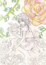 「メイドさんと薔薇」メイキング2