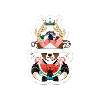 カブトムシと西瓜(リメイク)Beetle and watermelon (remake)アクリルバッジ
