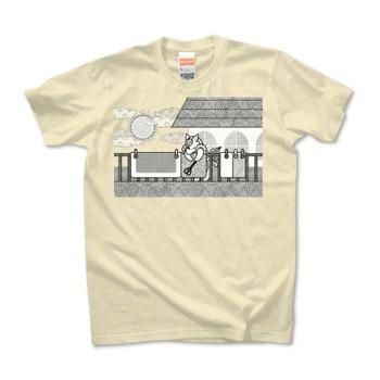 布団干し(Hang out futon)TシャツMONOCHROME